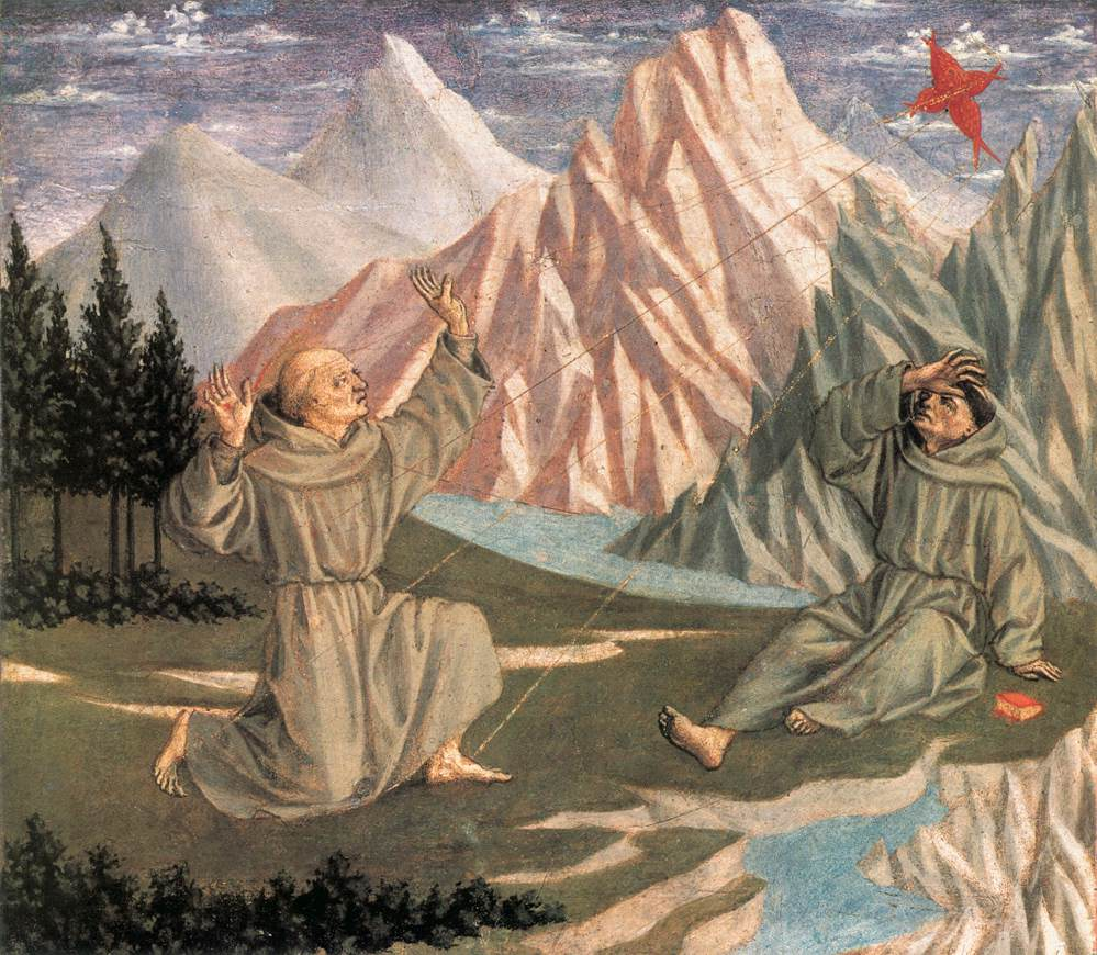 The Stigmatization Of St Francis (Predella) 1 1445 | Di Michelino Domenico | Oil Painting