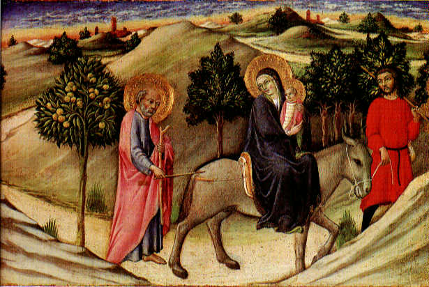 Flight To Egypt Predella Panel 1445 | Di Pietro Sano | Oil Painting