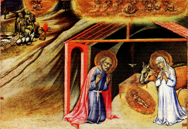 The Nativity Predella Panel 1445 | Di Pietro Sano | Oil Painting