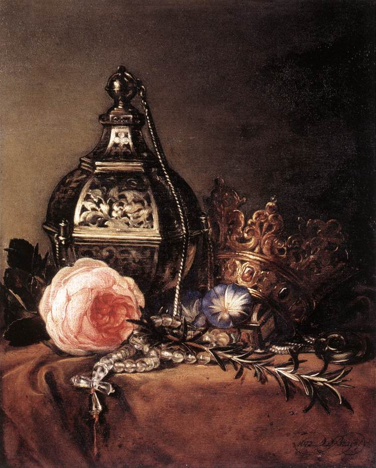 Still Life with Symbols of the Virgin Mary 1672 | Dirck Bray | Oil Painting