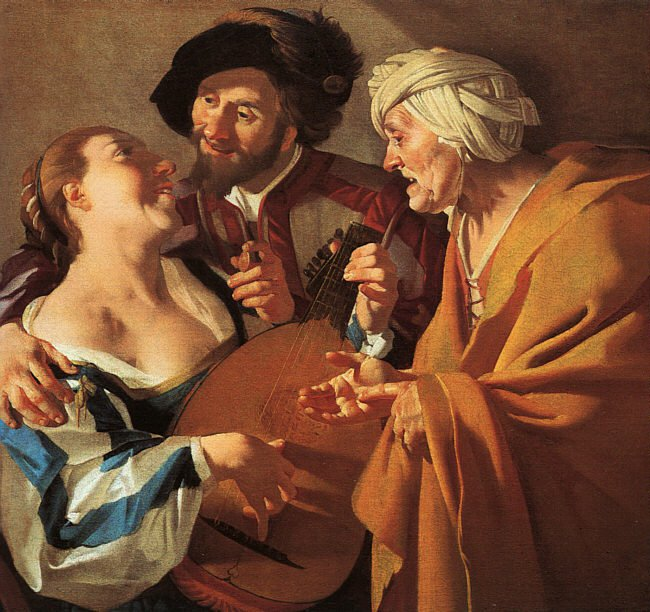 The Procuress 1622 | Dirck Van Baburen | Oil Painting
