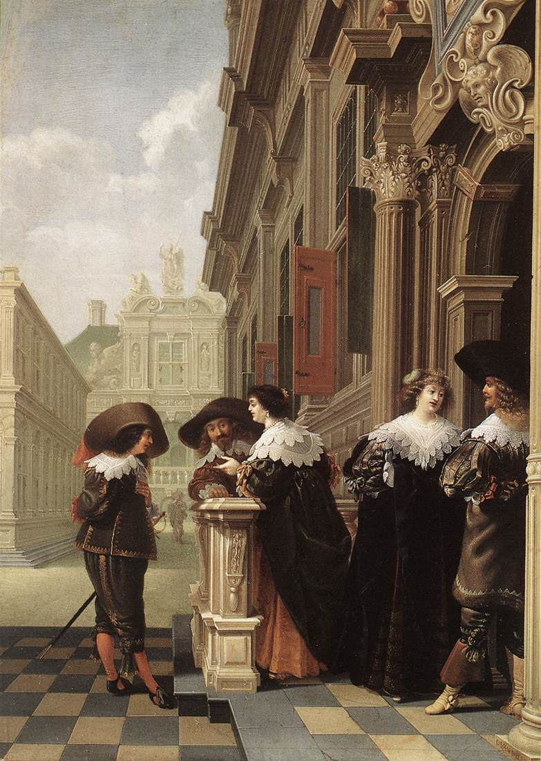 Conversation Outside a Castle 1636 | Dirck Van Delen | Oil Painting