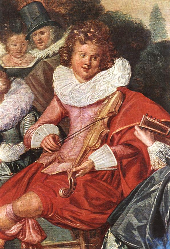 Amusing Party In The Open Air (Detail) 1621 | Dirk Hals | Oil Painting