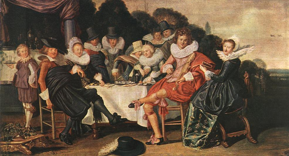 Amusing Party In The Open Air 1621 | Dirk Hals | Oil Painting