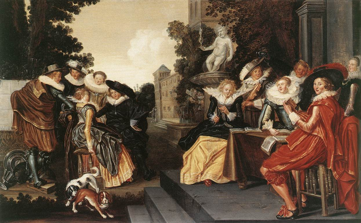 Garden Party 1620 | Dirk Hals | Oil Painting