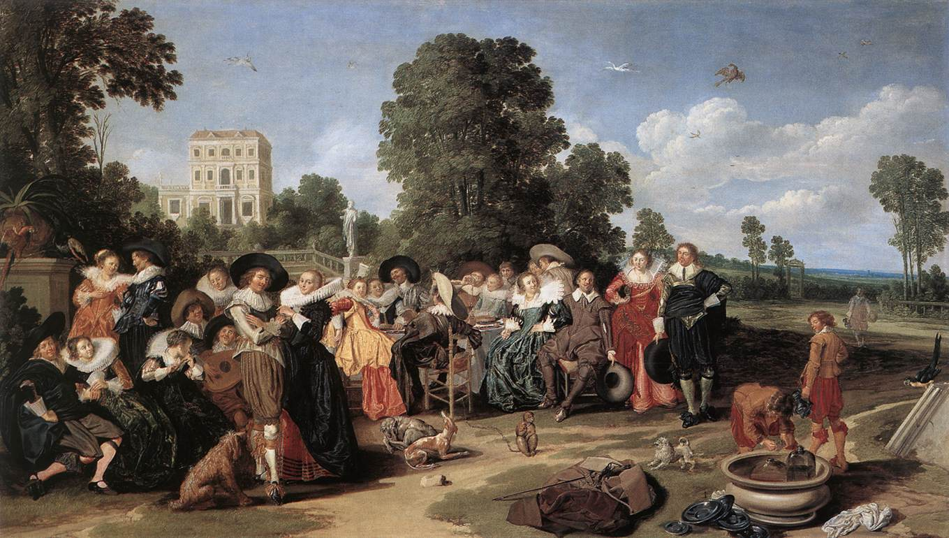The Fete Champetre 1627 | Dirk Hals | Oil Painting