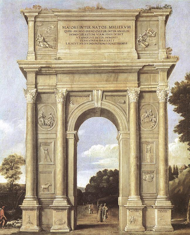 A Triumphal Arch Of Allegories 1607-10 | Domenichino | Oil Painting