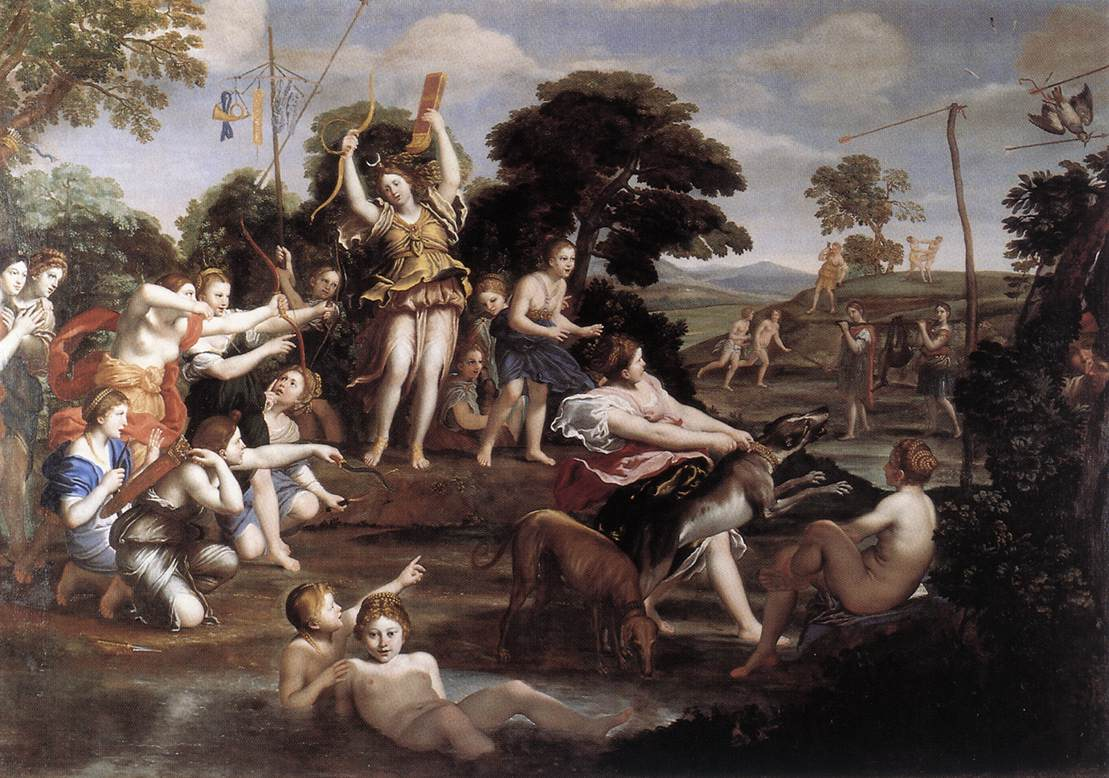 Diana And Her Nymphs 1616-17 | Domenichino | Oil Painting