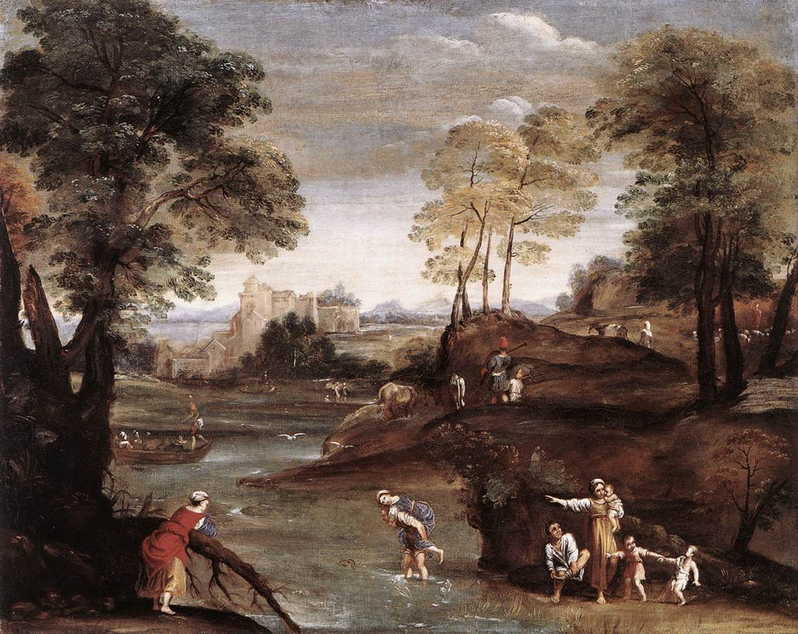 Landscape With Ford 1603 | Domenichino | Oil Painting