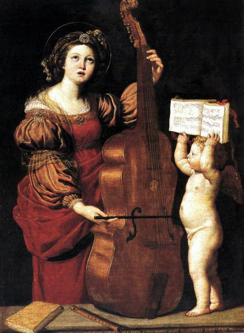 St Cecilia 1617-18 | Domenichino | Oil Painting