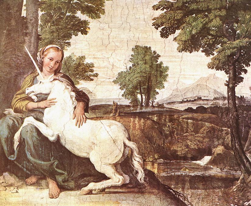 The Maiden And The Unicorn 1602 | Domenichino | Oil Painting