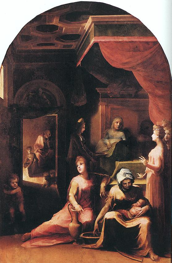 Birth Of The Virgin 1543 | Domenico Beccafumi | Oil Painting