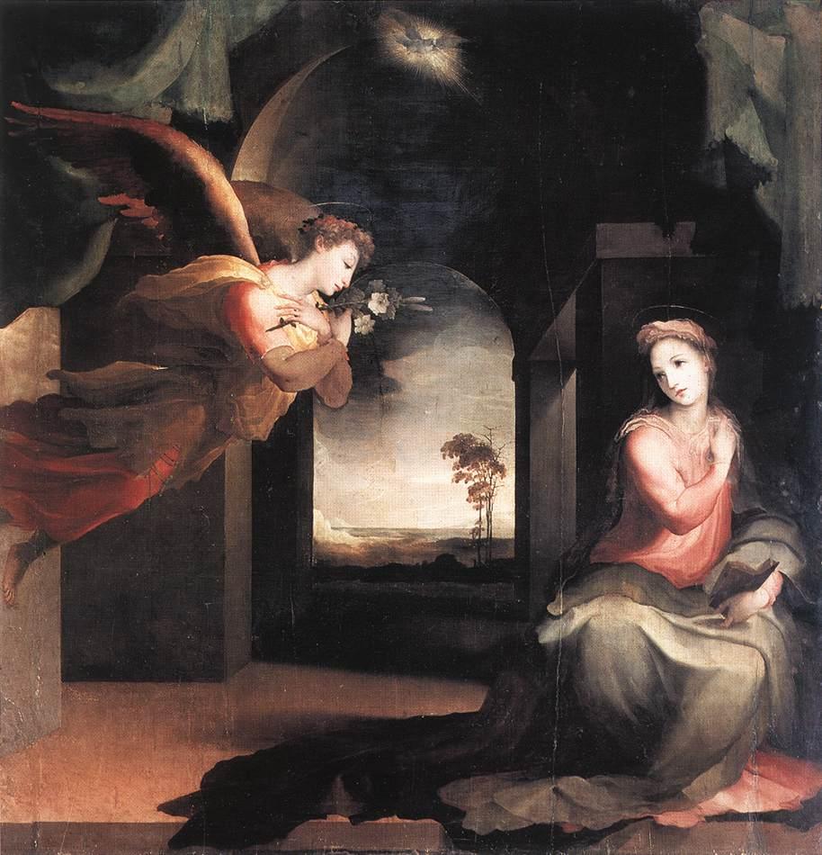 The Annunciation 1545 | Domenico Beccafumi | Oil Painting