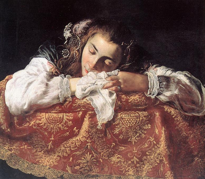 Sleeping Girl 1615 | Domenico Feti | Oil Painting