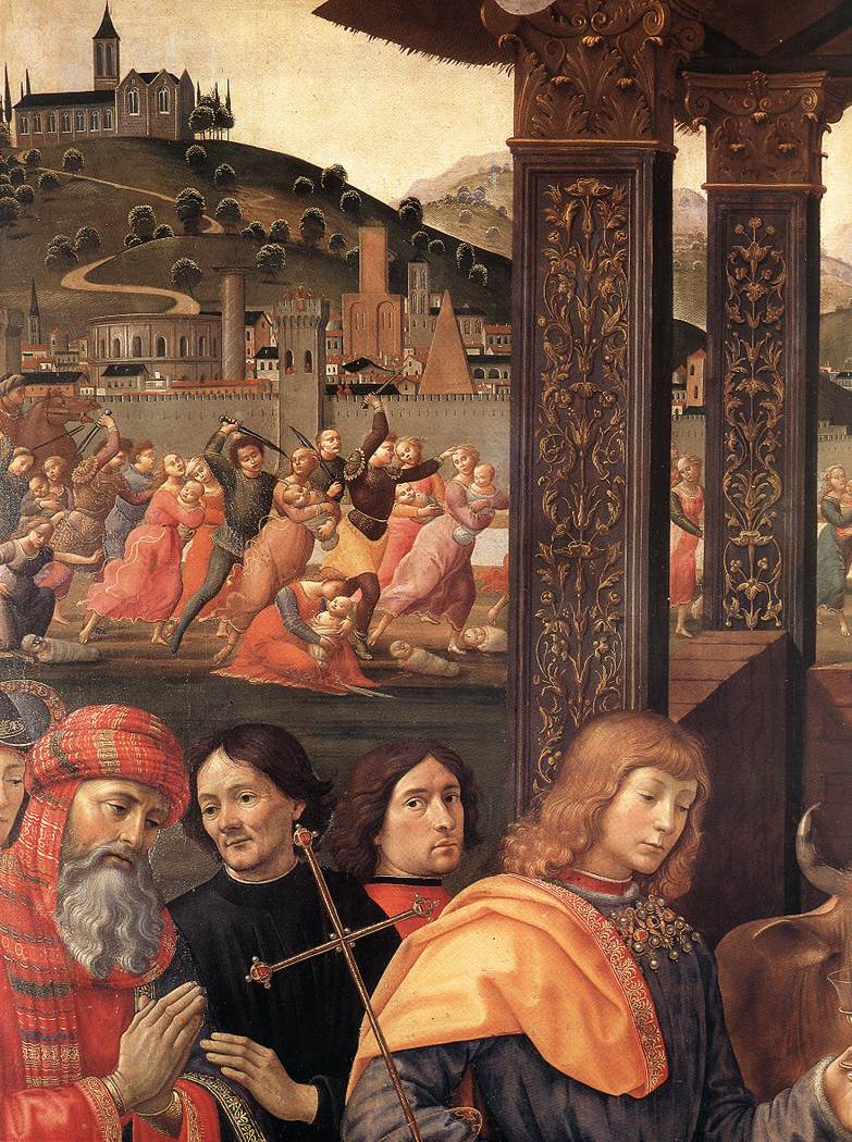 Adoration Of The Magi (Detail) 2 1488 | Domenico Ghirlandaio | Oil Painting