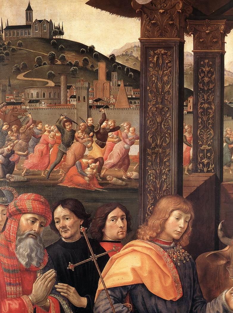 Adoration Of The Magi (Detail) 2 1488 | Domenico Ghirlandaio | Oil Painting