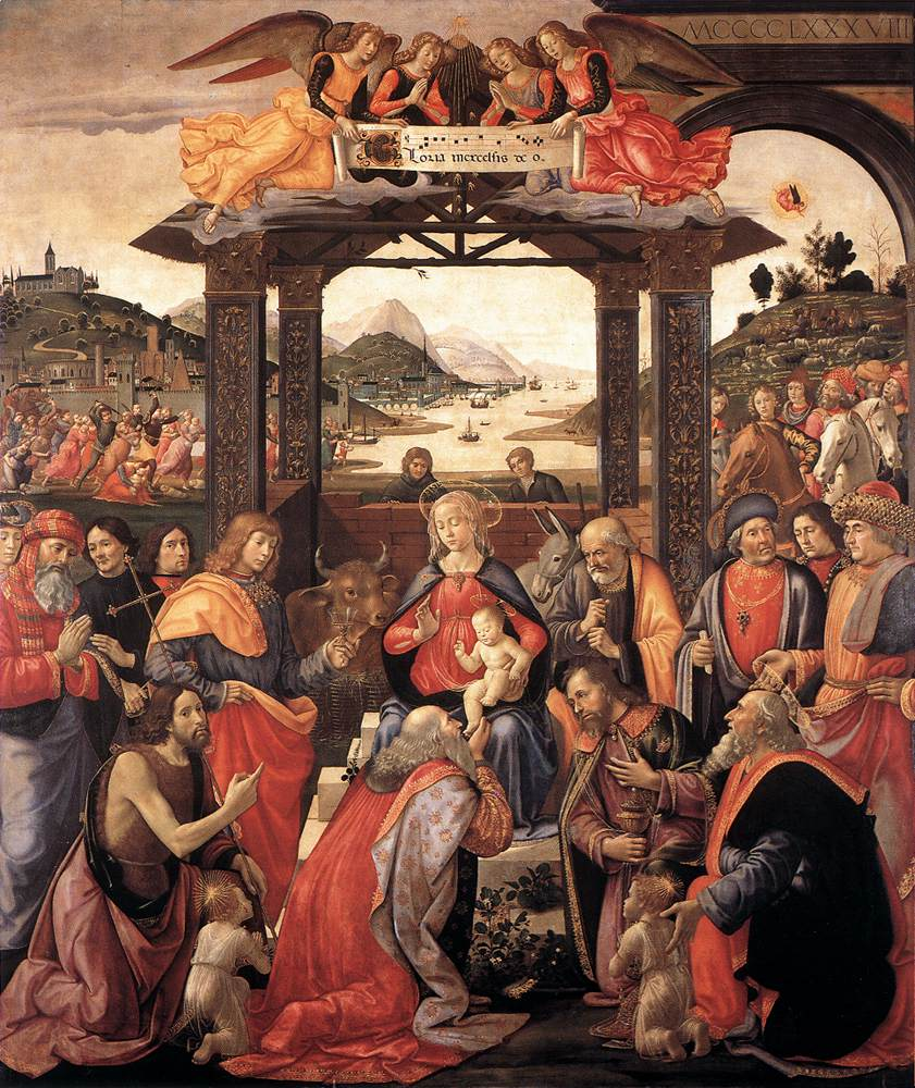 Adoration Of The Magi 1488 | Domenico Ghirlandaio | Oil Painting
