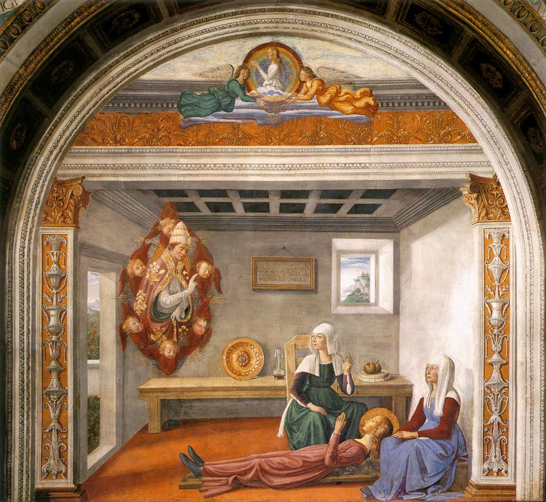 Announcement Of Death To St Fina 1473-75 | Domenico Ghirlandaio | Oil Painting