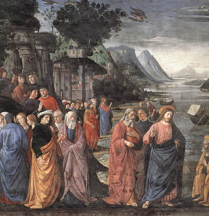 Calling Of The First Apostles (Detail) 1481 | Domenico Ghirlandaio | Oil Painting