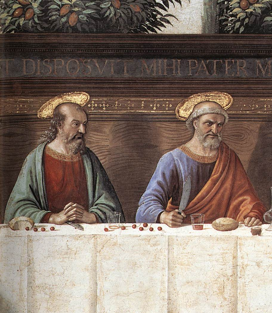 Last Supper (Detail) 1486 | Domenico Ghirlandaio | Oil Painting