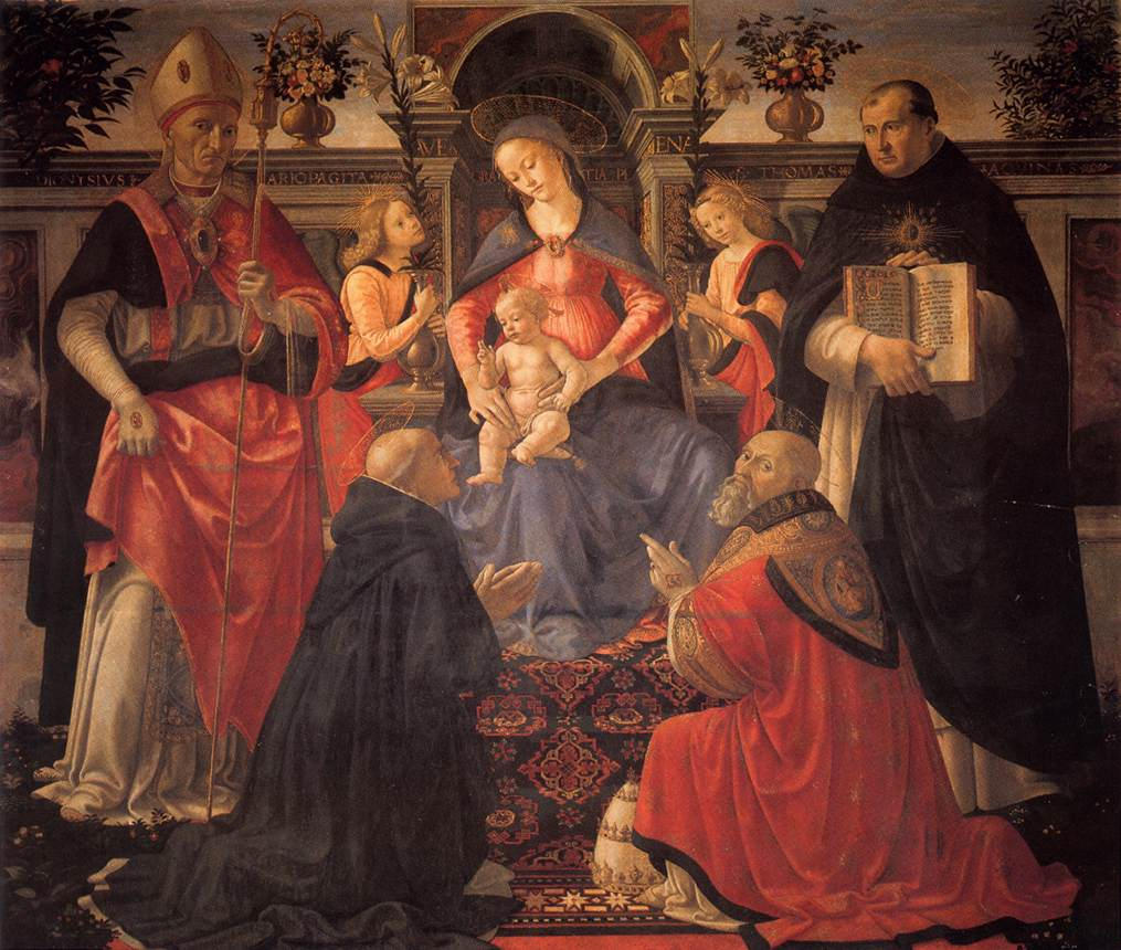 Madonna And Child Enthroned Between Angels And Saints 1486 | Domenico Ghirlandaio | Oil Painting