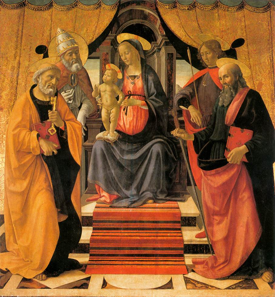 Madonna And Child Enthroned With Saints 1479 | Domenico Ghirlandaio | Oil Painting