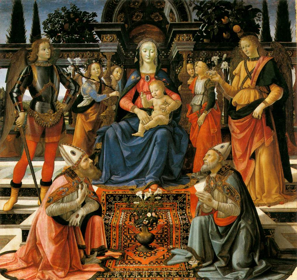 Madonna And Child Enthroned With Saints 1483 | Domenico Ghirlandaio | Oil Painting
