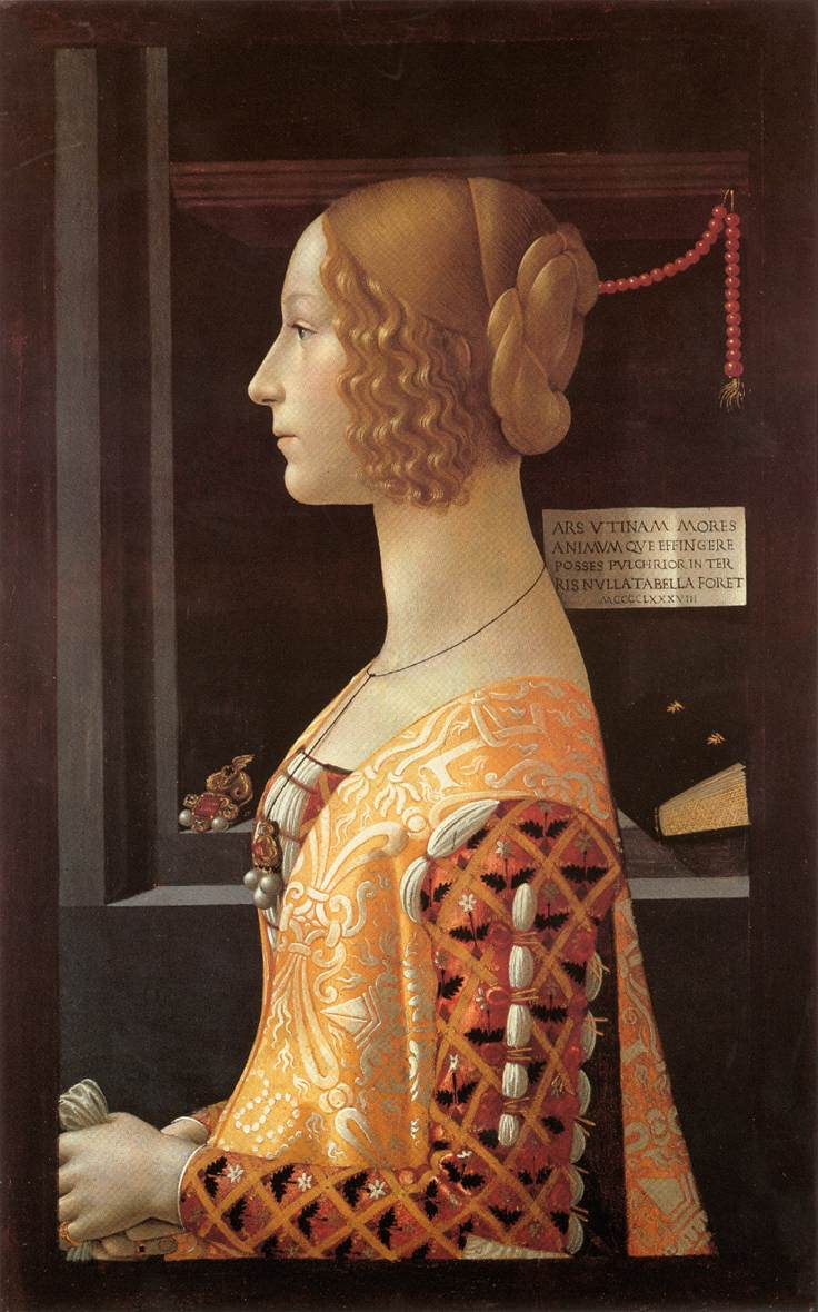 Portrait Of Giovanna Tornabuoni 1488 | Domenico Ghirlandaio | Oil Painting