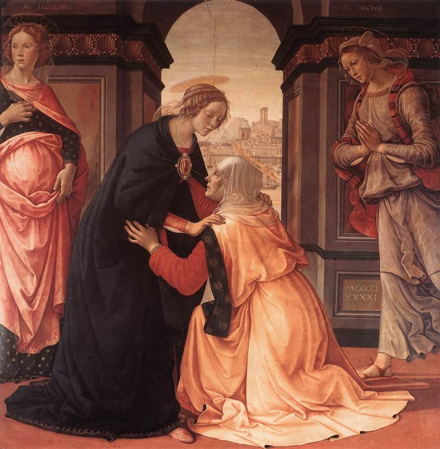 Visitation 1491 | Domenico Ghirlandaio | Oil Painting