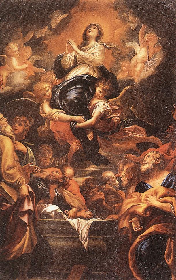 Assumption Of The Virgin 1676 | Domenico Piola | Oil Painting