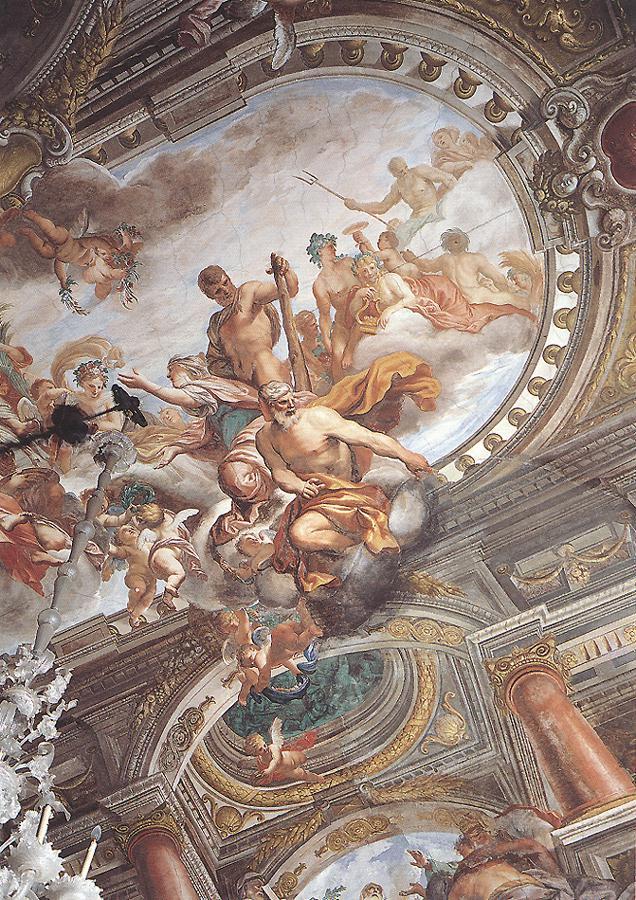 Janus And Hercule With Peace 1670s | Domenico Piola | Oil Painting