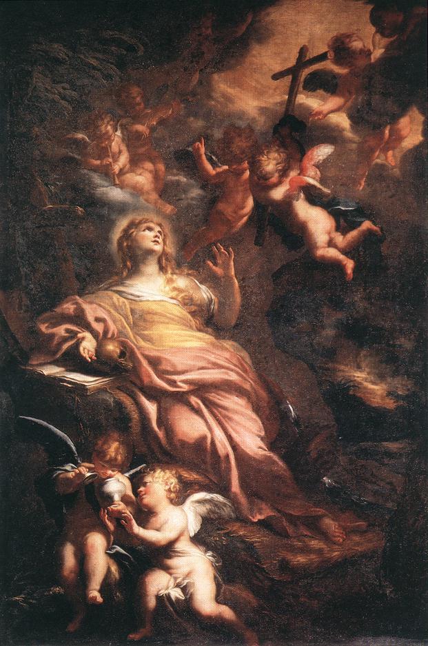 Magdalene In The Desert 1674 | Domenico Piola | Oil Painting