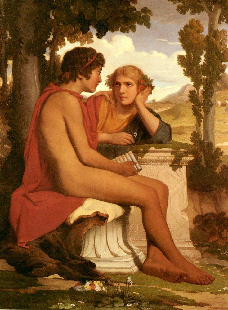 Daphnis et Chloe   Dominique Louis Papety   Oil Painting