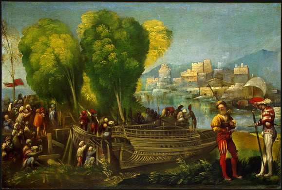 Aeneas And Achates On The Libyan Coast 1520 | Dosso Dossi | Oil Painting