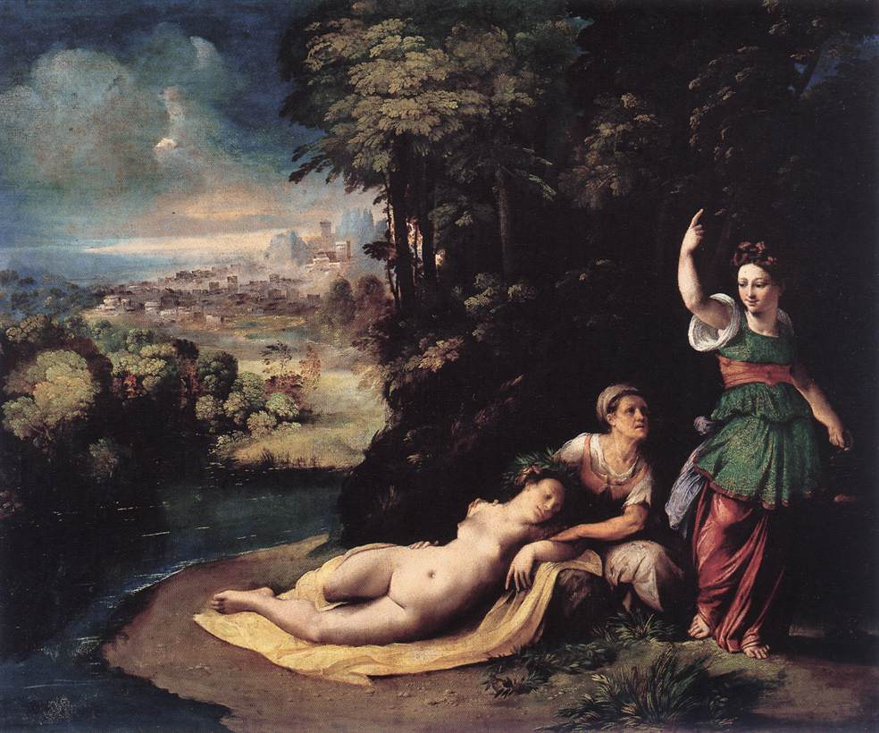 Diana And Calisto 1528 | Dosso Dossi | Oil Painting