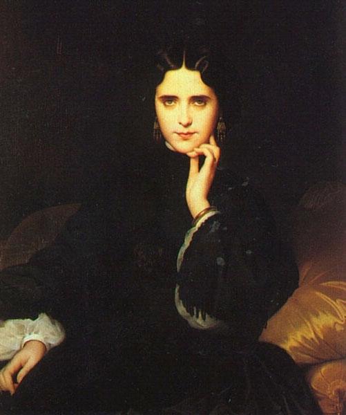 Madame De  Loynes | Duval Eugene Emmanuel Amaury | Oil Painting