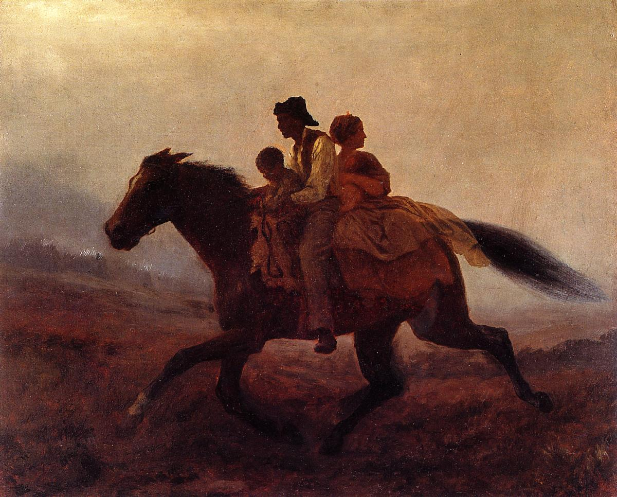 A Ride for Freedom - The Fugitive Slaves  1862 | Eastman Johnson | Oil Painting