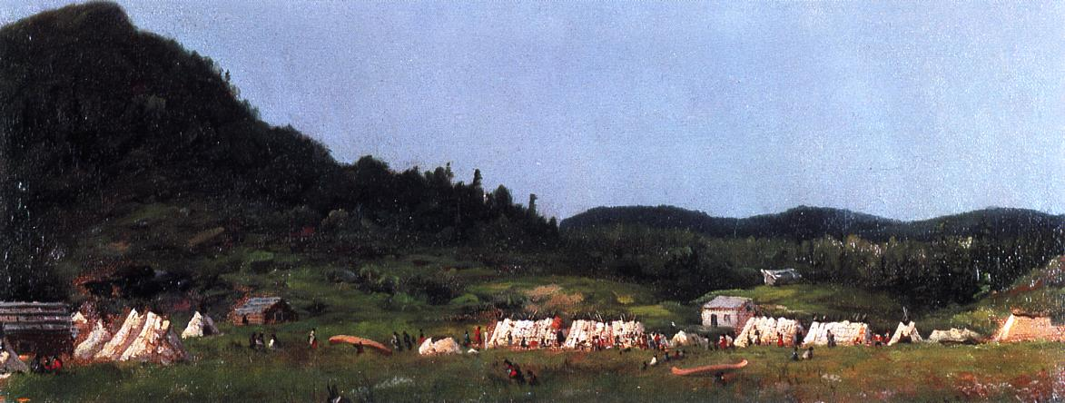 Camp Scene at Grand Portage  1857 | Eastman Johnson | Oil Painting