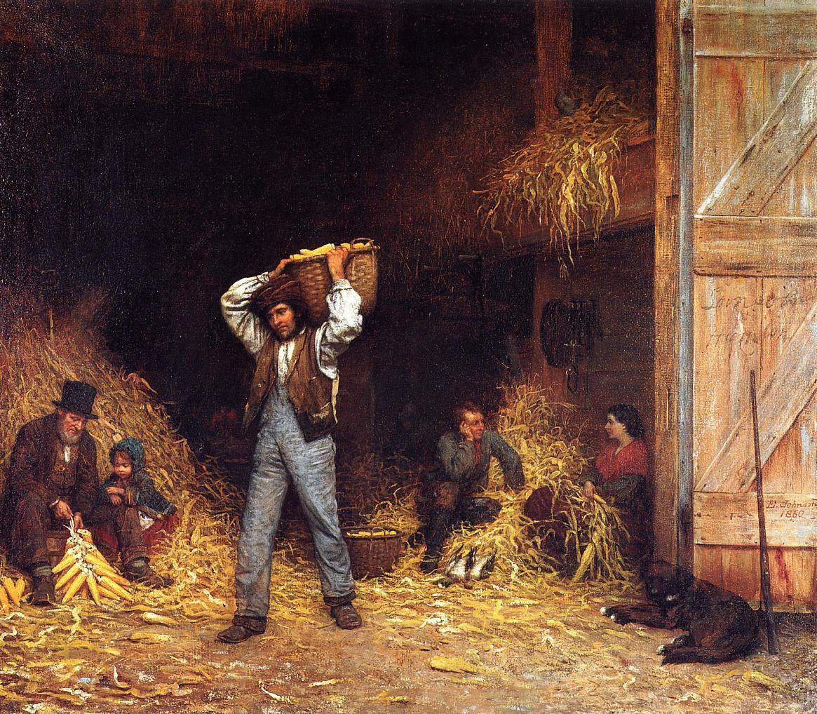 Corn Husking  1860 | Eastman Johnson | Oil Painting