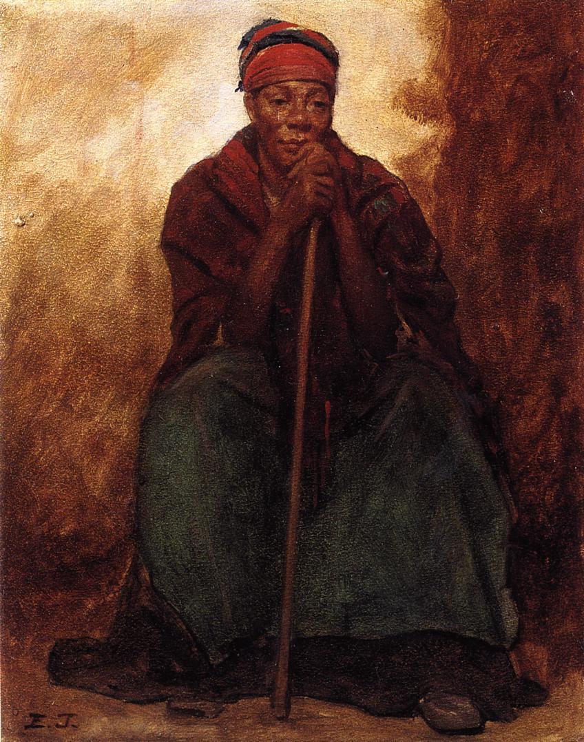 Dinah Portrait of a Negress  1866-1869 | Eastman Johnson | Oil Painting