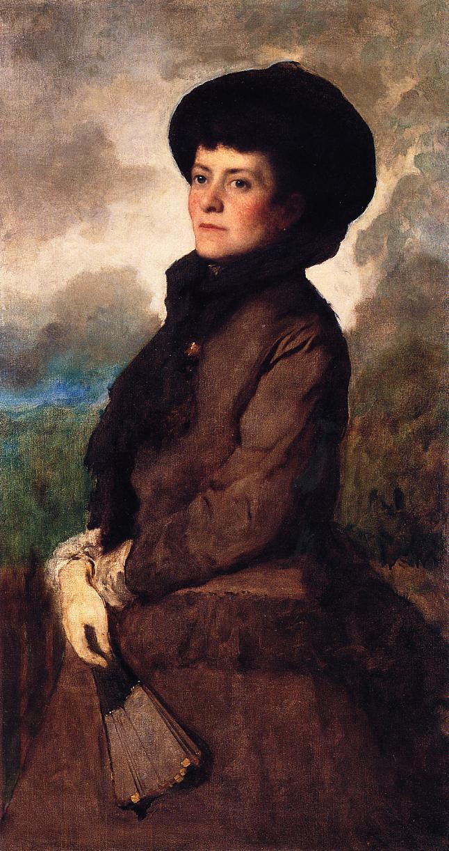 Ethel Eastman Johnson Conkling with Fan  1895 | Eastman Johnson | Oil Painting