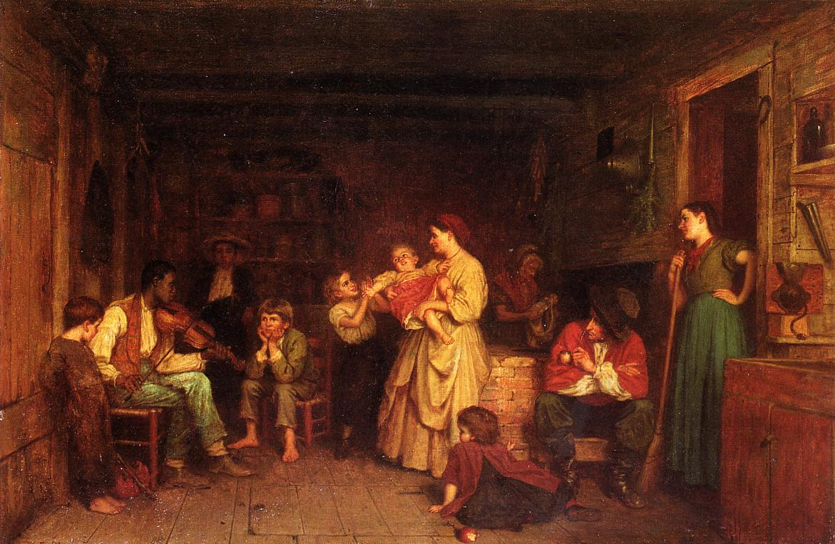Fiddling His Way  1866 | Eastman Johnson | Oil Painting