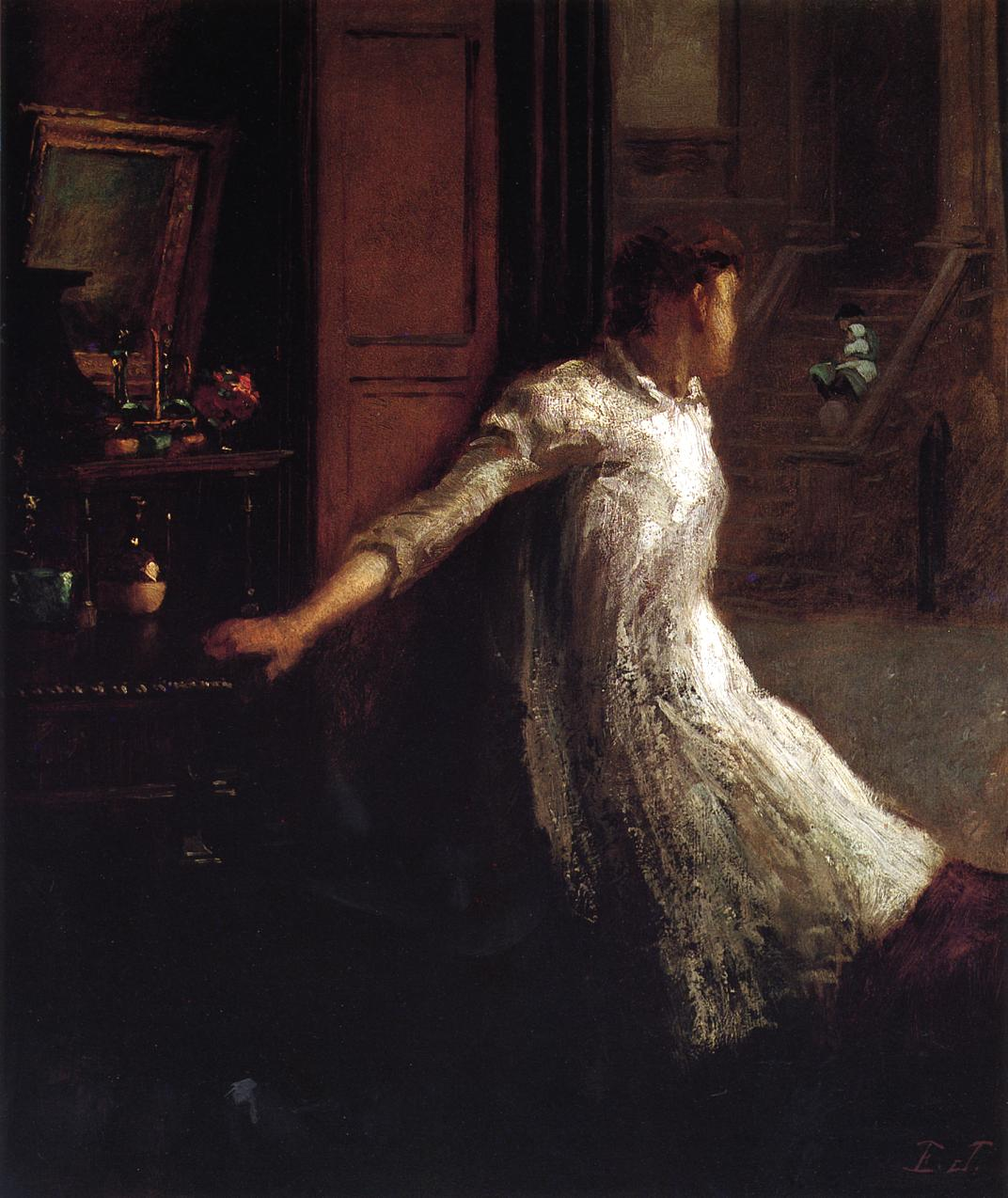 Girl at the Window  1871-1879 | Eastman Johnson | Oil Painting