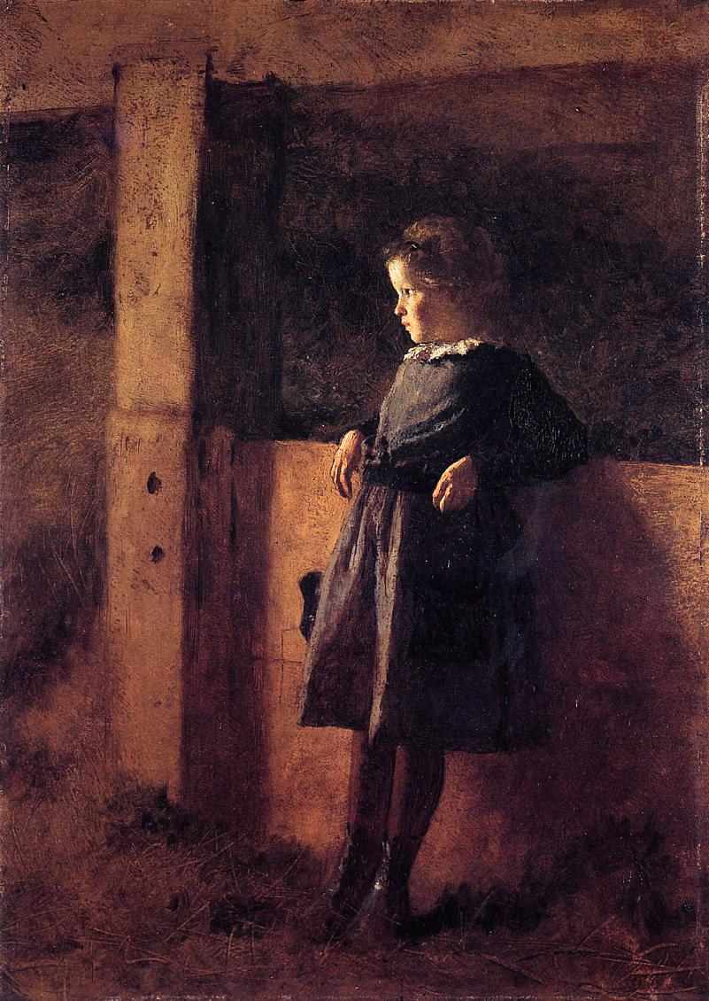 Girl in Barn (aka Sarah May)  1877-1878 | Eastman Johnson | Oil Painting