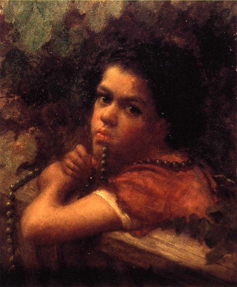 Hannah amidst the Vines  1859 | Eastman Johnson | Oil Painting