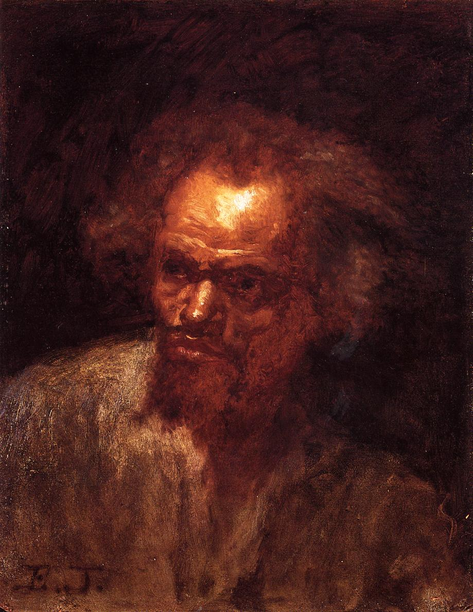 Head of a Black Man  1868 | Eastman Johnson | Oil Painting