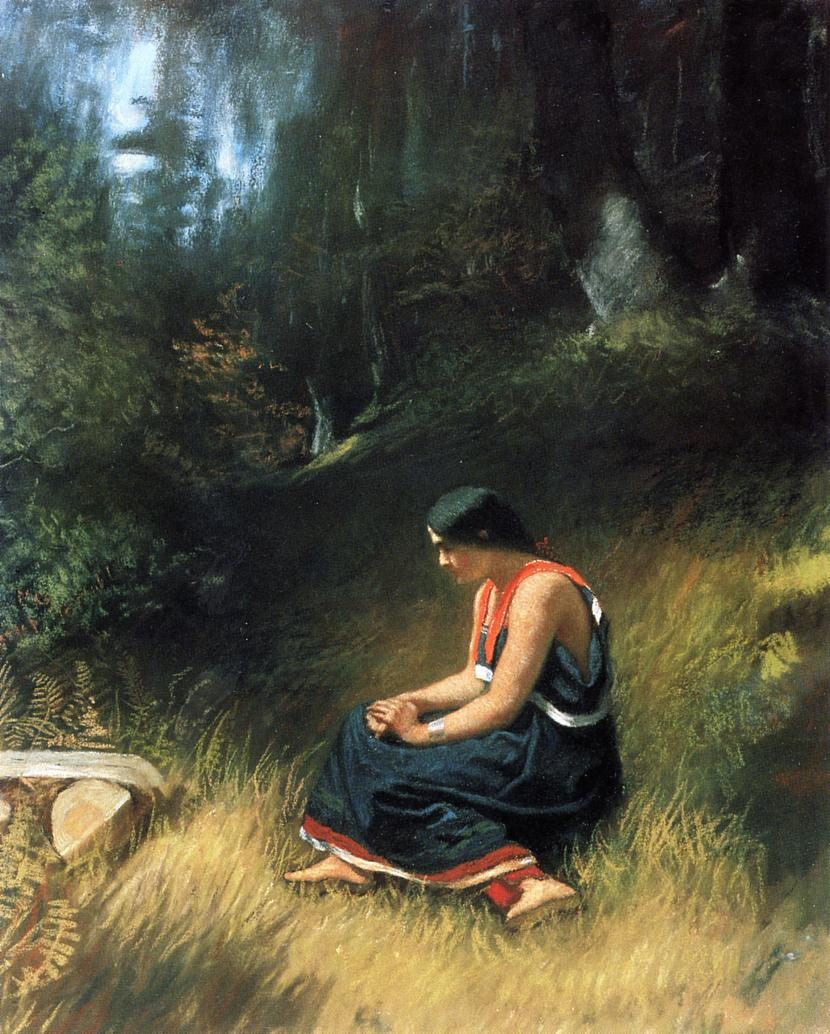 Hiawatha  1857 | Eastman Johnson | Oil Painting