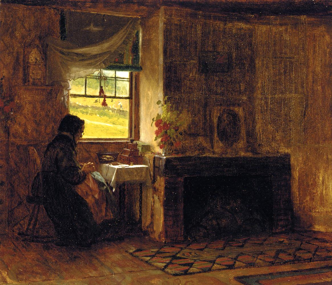 Inerior of a Farm House in Maine  1865 | Eastman Johnson | Oil Painting