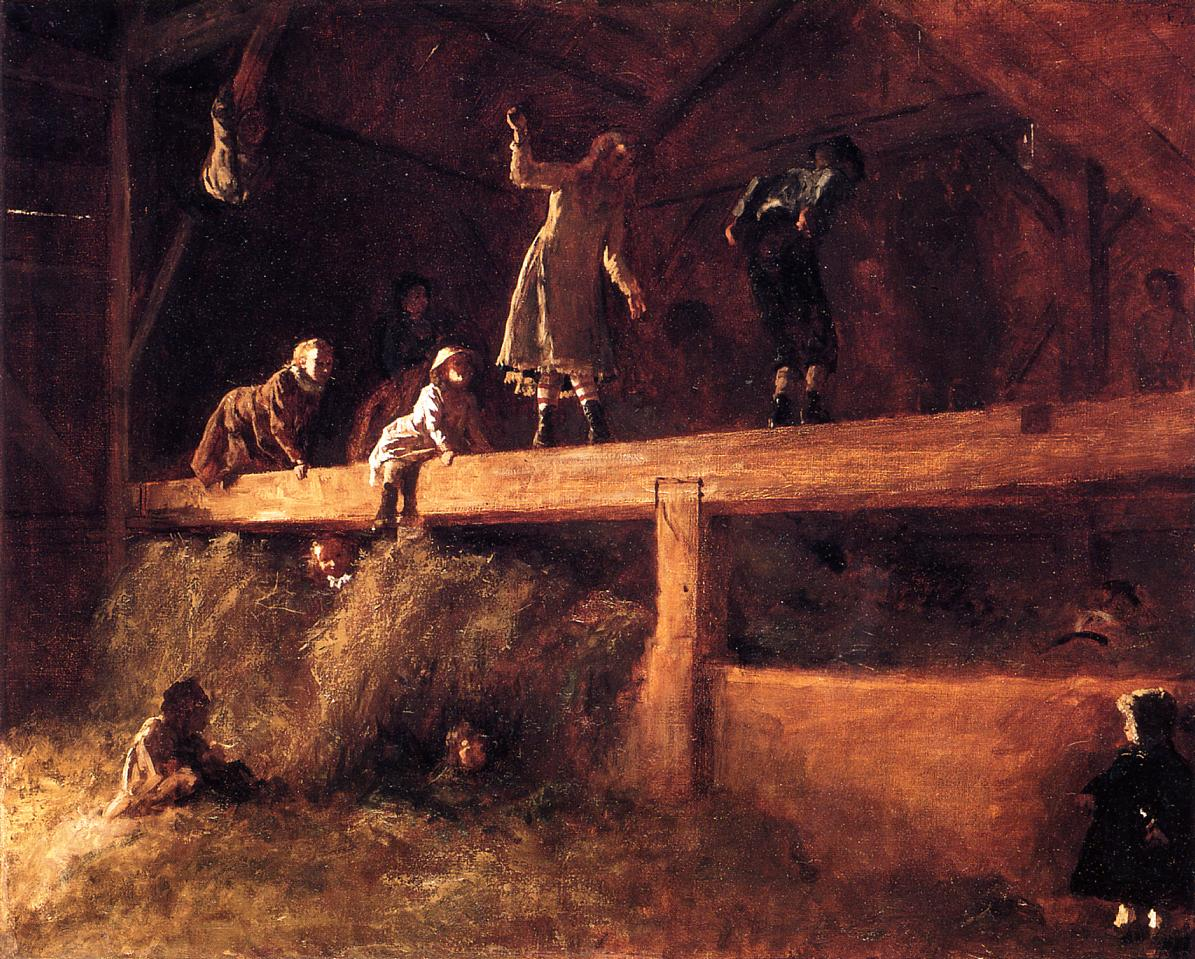 In the Hayloft  1877-1878 | Eastman Johnson | Oil Painting