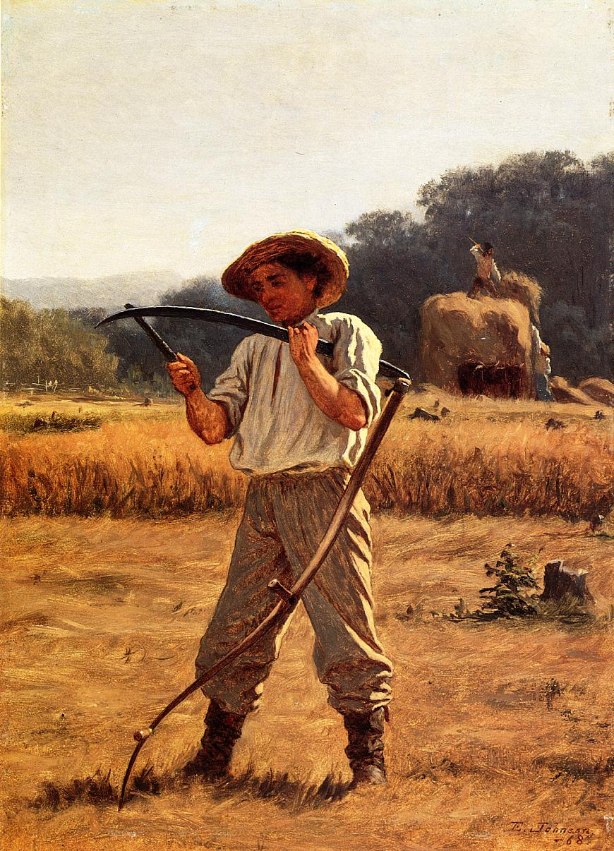 Man with Sythe  1868 | Eastman Johnson | Oil Painting